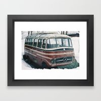 Abandoned Mercedes Framed Art Print