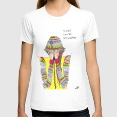 shy Womens Fitted Tee White SMALL