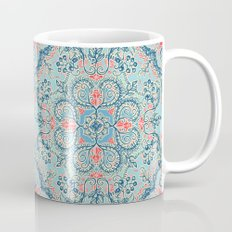 Gypsy Floral in Red & Blue Mug