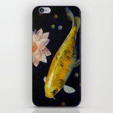 Yamabuki Ogon Koi iPhone & iPod Skin