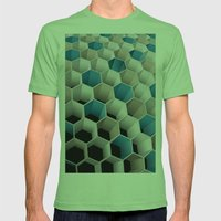 Honeycomb Mens Fitted Tee Grass SMALL