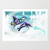 Evangelion Unit 01 - Shi… Art Print