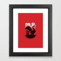 Rawr! Framed Art Print