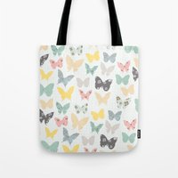 Butterflies Pattern Tote Bag