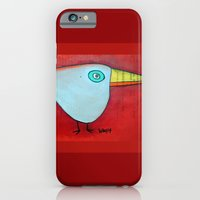 iPhone & iPod Case featuring Birdy Blue by SheThinksinColors
