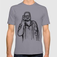 Walter Sobchak Mens Fitted Tee Slate SMALL