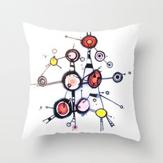 I'm Lost in my World Wide Web Throw Pillow