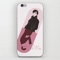 Sherlock tribute: A study in pink iPhone & iPod Skin