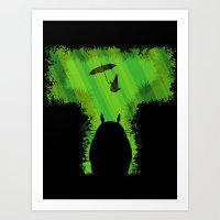 T For Totoro Art Print