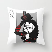 Courting The Crimson Que… Throw Pillow