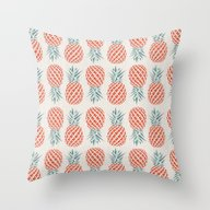 Throw Pillow featuring Pineapple  by Basilique