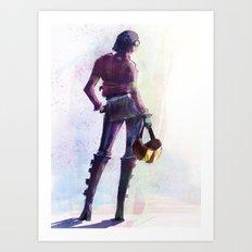 Girls and Bikes Art Print