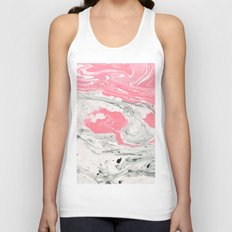 Marble + Bubblegum #society6 #decor #buyart Unisex Tank Top