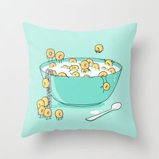 Early Morning Party Throw Pillow