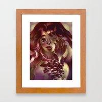 Girl Hand Girl Framed Art Print