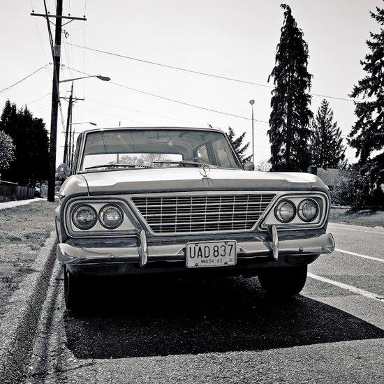 Roadside Studebaker Art Print