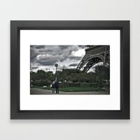 Through any storm Framed Art Print