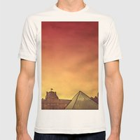Louvre Mens Fitted Tee Natural SMALL