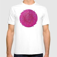 Paisley Jewels Mens Fitted Tee White SMALL