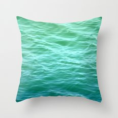 Teal Sea Throw Pillow