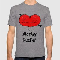 Love Huh? Mens Fitted Tee Tri-Grey SMALL