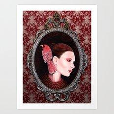 Dame Kardinal fig2 Art Print
