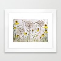 Alliums and Heleniums Framed Art Print