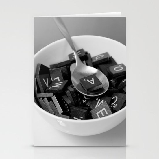 Alphabet Soup Stationery Card