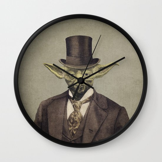 Sir Yodington (square format)  Wall Clock