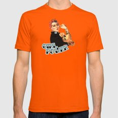 Girl Power! Mens Fitted Tee Orange SMALL