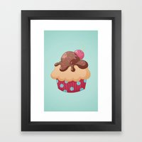 Chocolate Cupcake Framed Art Print