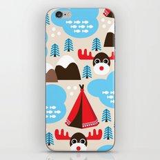 Scandinavian retro moose pattern iPhone & iPod Skin