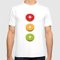Go Kiwi Mens Fitted Tee White SMALL