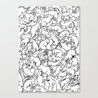 Bunny Pattern Canvas Print