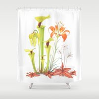 My Pitcher Plant Bog Shower Curtain