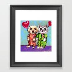 Tiny Pajama Party Framed Art Print