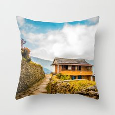 Village House Throw Pillow