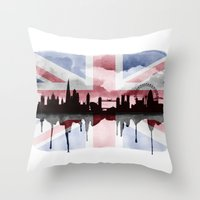 Great British Flag Londo… Throw Pillow
