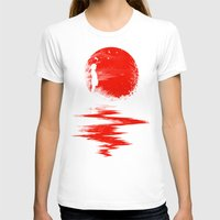 fall T-shirts featuring The Land of the Rising Sun by nicebleed