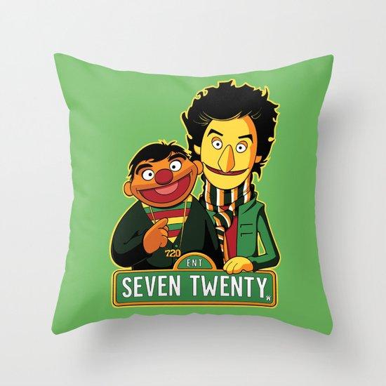 E is for Entertainment Throw Pillow