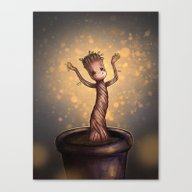 Baby Groot Canvas Print