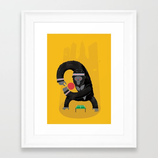 King Kong Ping Pong Framed Art Print