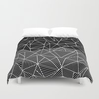 Ab Half and Half Black Duvet Cover