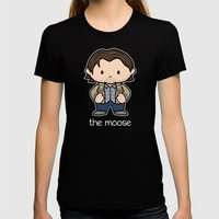 The Moose Womens Fitted Tee Black SMALL