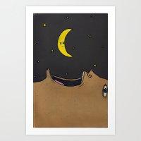 The Night I Ate The Moon Art Print
