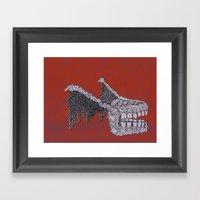 Tooth Monster Framed Art Print