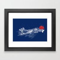 Olympic Swimmer  Framed Art Print