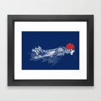 Olympic Swimmer  Framed Art Print