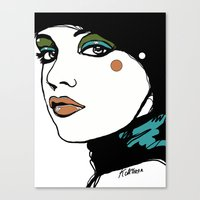 Green Eyeshadow  Canvas Print