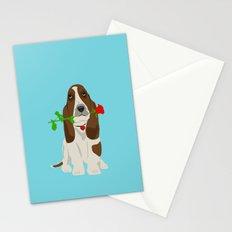 Basset Hound Dog in Love Stationery Cards